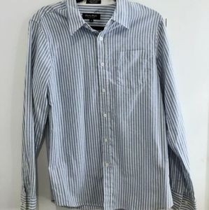 Eighty Eight Shirts - 5 for $30 Blue White Striped Button Up Dress Shirt